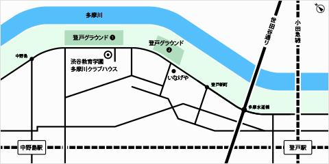 多摩川クラブハウスの地図