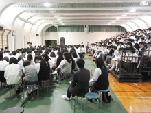 生徒会役員選挙立会演説会